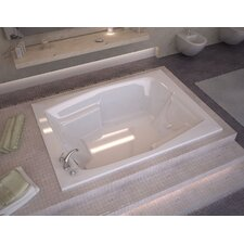 "St. Nevis 72"" x 54"" Rectangular Soaking Bathtub with Reversible Drain"