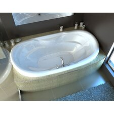 "Antigua 70"" x 41"" Oval Air Jetted Bathtub with Center Drain"