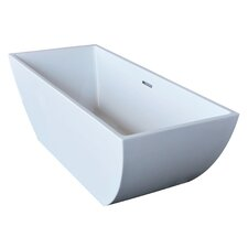 "Beryl 67"" x 30"" Rectangle Acrylic Freestanding Bathtub"