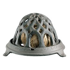 Cast Iron Round String Dispenser Sculpture