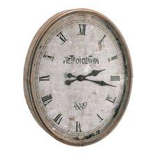 "Oversized 23.3""  Wood / Glass Metro Clock"