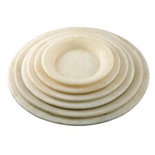 "Fall 6 Piece 5"" Round Marble Plate Set"