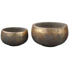 2 Piece Round Pots Set