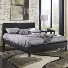 Padded Upholstered Panel Bed
