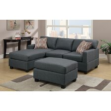 Bobkona Lexington Reversible Chaise Sectional