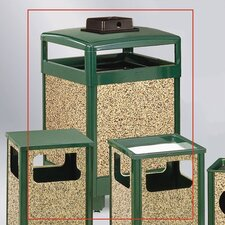 38-Gal Aspen Hinged Top Receptacle with Weather Urn