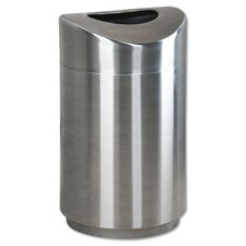 30-Gal Eclipse Open Stainless Steel Top Waste Receptacle