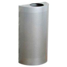 12-Gal Half-Round Designer Line Silhouettes Steel Receptacle