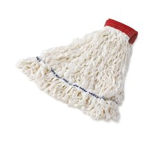 Clean Room Medium Rayon Mop Heads with Looped-End in White
