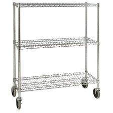 """48.3"""" H 3 Shelf Shelving Unit Mobile"""