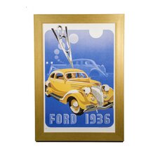 Classic Cars Ford 1936 Framed Vintage Advertisement