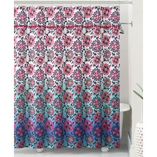 Pompom Ombre Shower Curtain