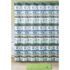 Robot 15 Piece Shower Curtain Set