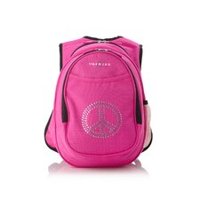 Kids All in One Preschool Bling Rhinestone Peace Cooler Backpack