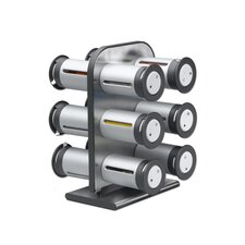 Zero Gravity Countertop 12 Canisters Magnetic Spice Rack Set