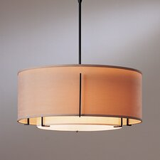 Exos Double Shade 3 Light Drum Pendant