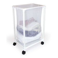Mesh Hamper with Wheels