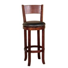 "Cappuccino 30"" Swivel Bar Stool with Cushion"