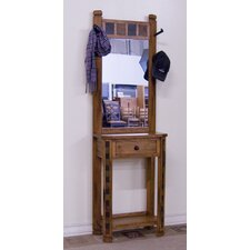 Sedona Hat Rack in Distressed Oak with Mirror