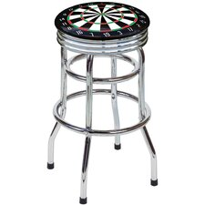 "Dart Board 30.5"" Swivel Bar Stool with Cushion"