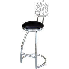 "Flames 30"" Swivel Bar Stool with Cushion"