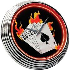 "Poker 14.75"" Neon Wall Clock"