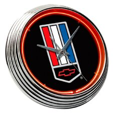 "Chevrolet 14.75"" Camaro Neon Wall Clock"