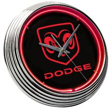 Dodge Ram Head Neon Clock