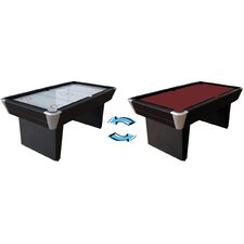 6' 2-in-1 Air Hockey/Pool Table