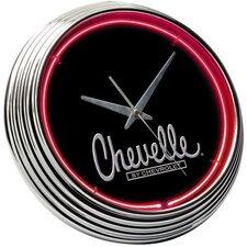 "Chevrolet 14.75"" Chevelle Neon Wall Clock"