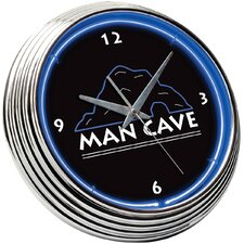 "15"" Man Cave Neon Wall Clock"