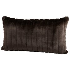 Faux Beaver Boudoir/Breakfast Pillow