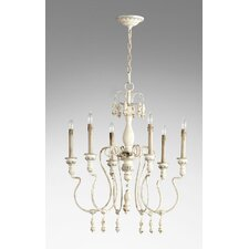 Chantal 6 Light Candle Chandelier