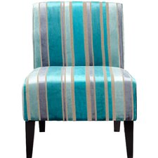 Stripy Blue Side Chair