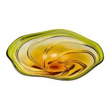 Swirl Art Glass Plate