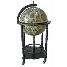 Firenze Italian Style Floor Globe Bar with Twisted Floor Stand