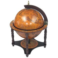 "Italian Style 13"" Tabletop Globe Bar in Old World"