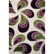Signature Floral Green/Purple Area Rug