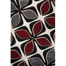 Signature Floral Red/Gray Area Rug