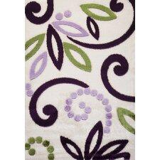 Contempo Spiral Green/Purple Area Rug
