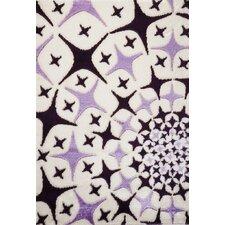 Contempo Starburst Black/Purple Area Rug
