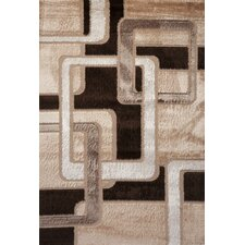 Contempo Geometric Brown/Tan Area Rug