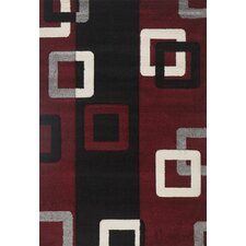 Milano Link Red Area Rug