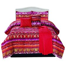Morroco 6 Piece Comforter Set in Red