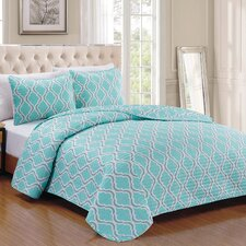 Turner 3 Piece Cotton Quilt Set