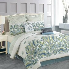 Paisley Cotton 8 Piece Comforter Set