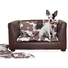 Deluxe Orthopedic Memory Foam Dog Flowers Dog Chair Set