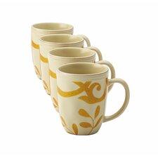 Gold 12 Oz. Scroll Mug (Set of 4)