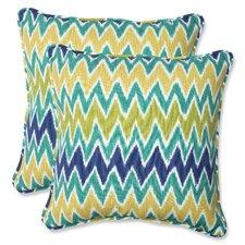 Zulu Indoor/Outdoor Throw Pillow (Set of 2)