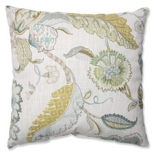 Finders Keepers Peacock Cotton Throw Pillow